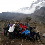 Our trekking team, Mt. Kilimanjaro, Tanzania
