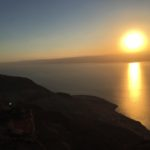 Sun going down over the Dead Sea