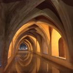Beneath the Alcazar, Seville, Spain